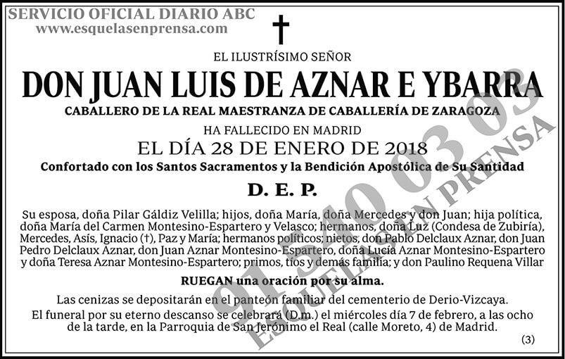 Juan Luis de Aznar e Ybarra